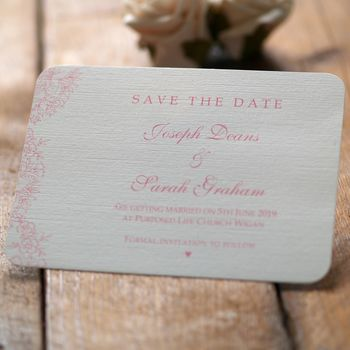 Vintage Lace Wedding Save The Date Cards