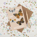 You Give Me Butterflies Illustrated Greeting Card