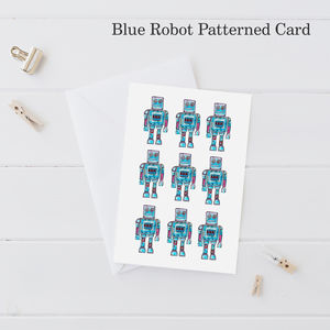 Robot Pattern Greeting Card - all purpose cards