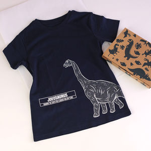 Child's Personalised Dinosaur T Shirt In A Box - personalised gifts