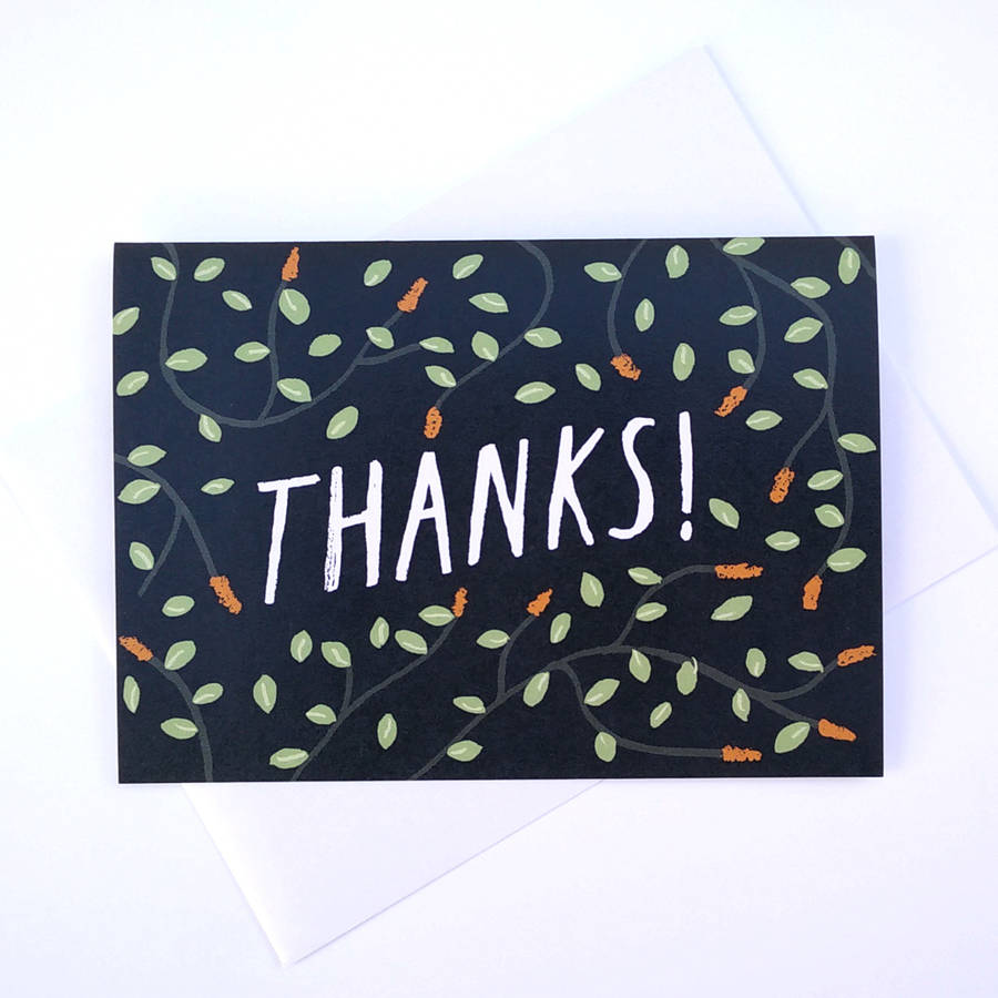Thanks greetings card by alex foster illustration thanks greetings card m4hsunfo