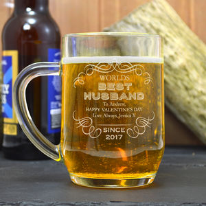 Best Husband Engraved Tankard Gift - tableware