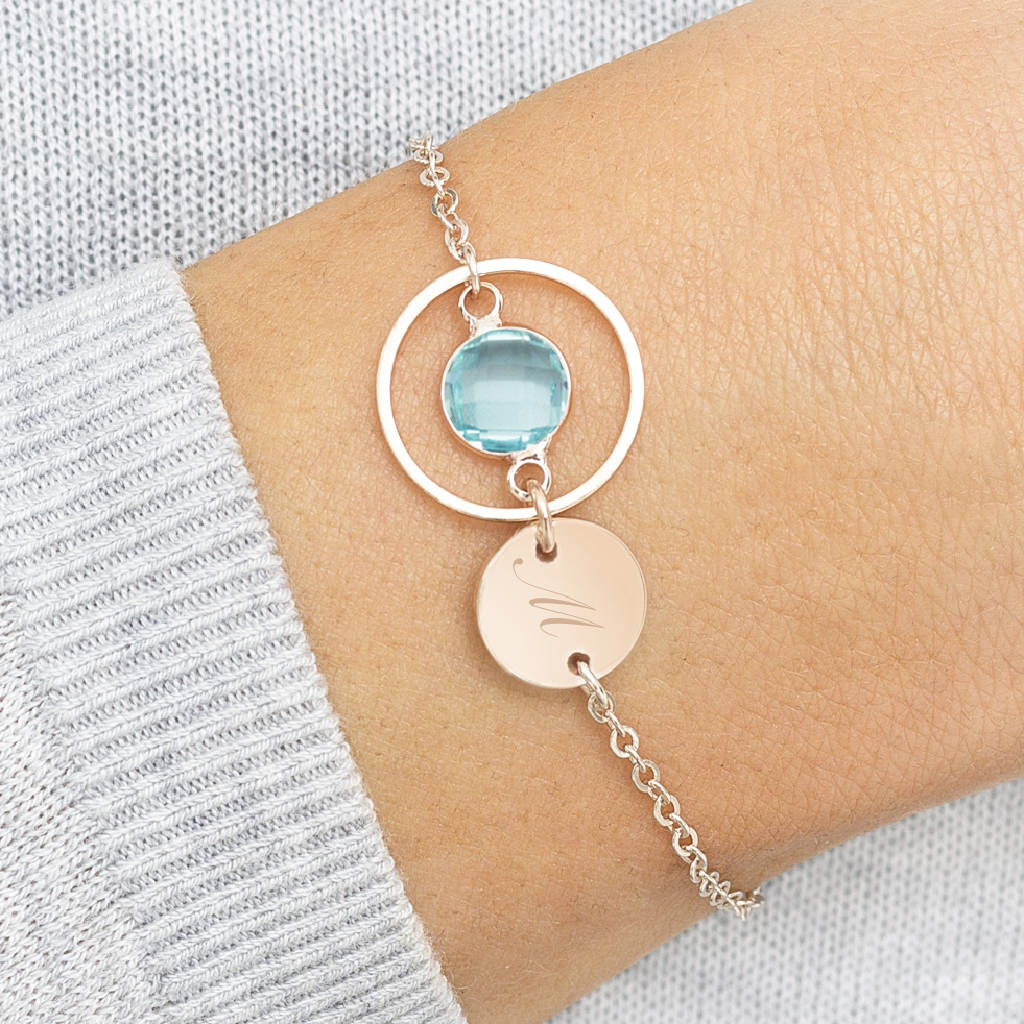Amy Personalised Karma Birthstone Bracelet