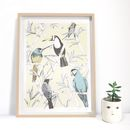 A4 Tropical Bird Print