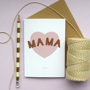 Mama Personalised Mothers Day Card
