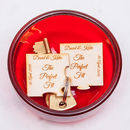 Personalised Perfect Fit Wooden Jigsaw Puzzle Keyring
