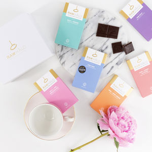 Six Bar Raw Chocolate Gift Box - gifts for her