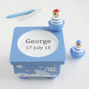Personalised Pirate Wooden Music Box - for under 5's