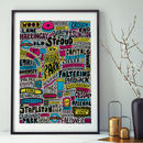 Finsbury Park London Typographic Print