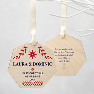 Personalised First Christmas Decoration - christmas signs & decorative letters