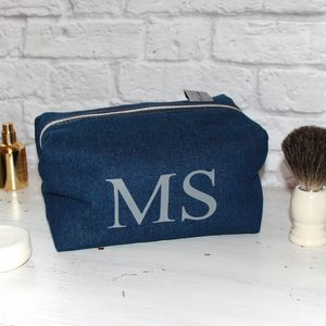 Monogram Men's Denim Wash Bag