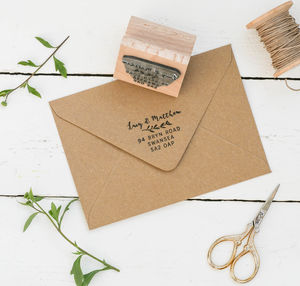 Address Stamp With Natural Sprig - invitations
