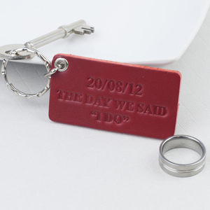 The Day We Said I Do Anniversary Key Ring