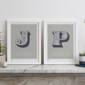 Individual Alphabet Letter Screen Prints, A To Z - typography
