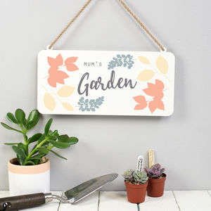 Personalised Metal Garden Sign - gifts for her