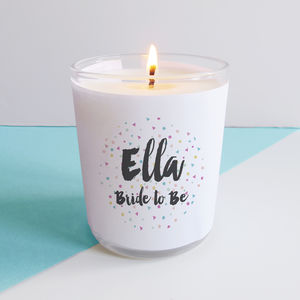 Personalised Bride Confetti Candle