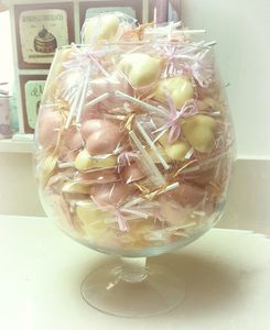 Chocolate Heart Wedding Favour Lollipops