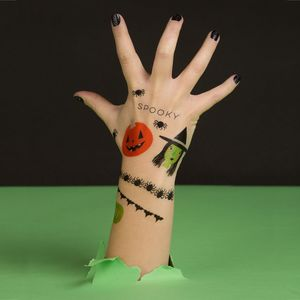 Vibrant Halloween Temporary Tattoos - halloween