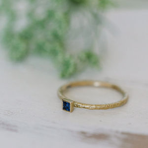 Catkin Square Sapphire Ring - engagement rings