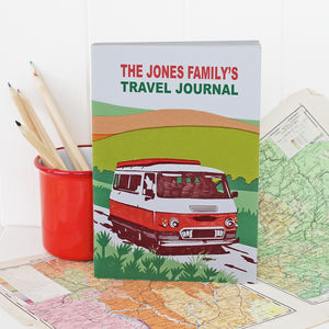 Personalised Campervan Travel Journal - gifts for her
