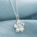 Children's Personalised Silver Flower Necklace