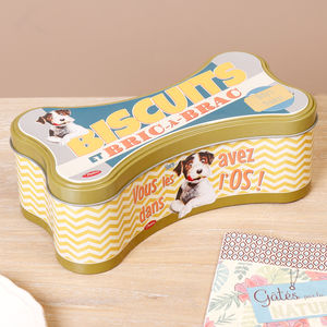 Personalised Retro Dog Treat Tin - dogs