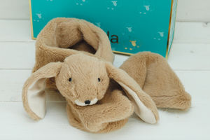 Children's Bunny Brown Scarf