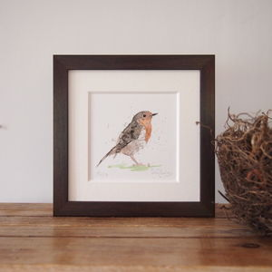 Limited Edition, Garden Bird Print, Robin