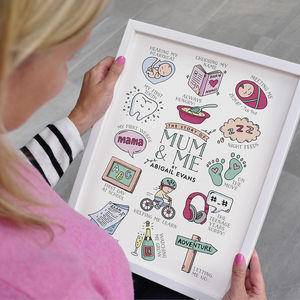 The Story Of Mum And Me Personalised Print