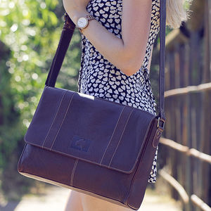 Luxury Oiled Style Leather Messenger Bag