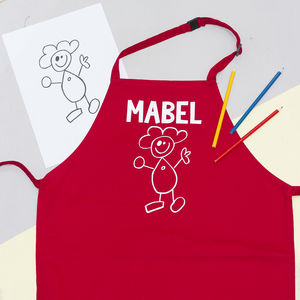 Children's Personalised Doodle Apron