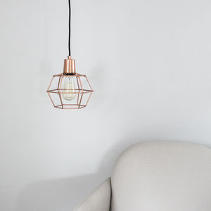 Copper Cage Pendant Light - on trend: copper