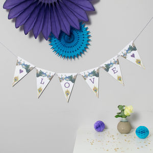 Bespoke Peacock Bird Bunting - bunting & garlands