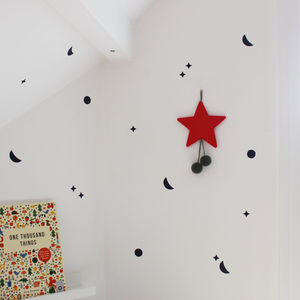 Mini Moon And Stars Wall Stickers