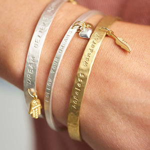 Create Your Own Personality Mantra Bracelet - gifts for sisters