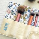 Personalised Make Up Brush Roll