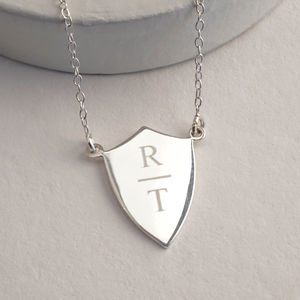 Letter Shield Necklace