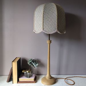 Blush Wool Oak Lamp