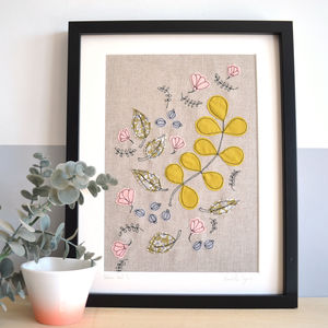 Nature Trail Embroidery Personalised Picture - nature & landscape