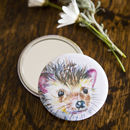 Inky Hedgehog Pocket Compact Mirror
