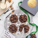 Double Chocolate Hazelnut New York Cookies