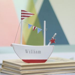 Mini Personalised Boat With Star