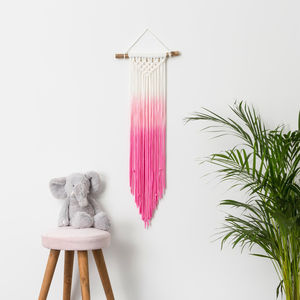 Children's Ombre Dip Dye Wall Hanging