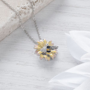 Bumble Bee Daisy Necklace - necklaces & pendants