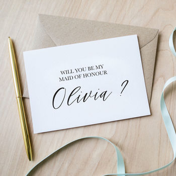 Personalised Will You Be My Maid Of Honour Card