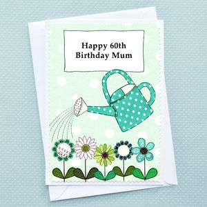 'Flowers' Personalised Birthday Card - personalised