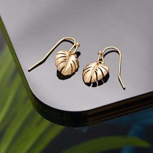 Leaf Drop Earrings - earrings