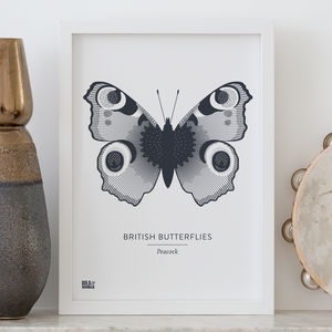 'British Butterflies: Peacock' Screen Print
