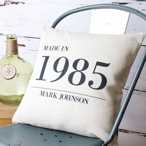 Personalised 'Made In' Cushion Cover