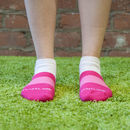 Women's Pink Ankle Sports Safe Land Sock